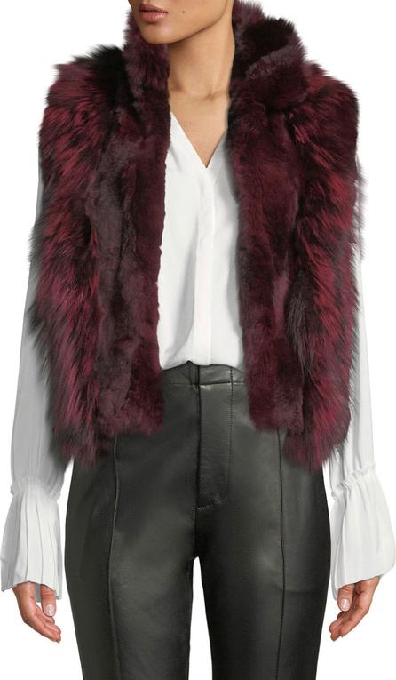 Adrienne Landau Short Fur Vest