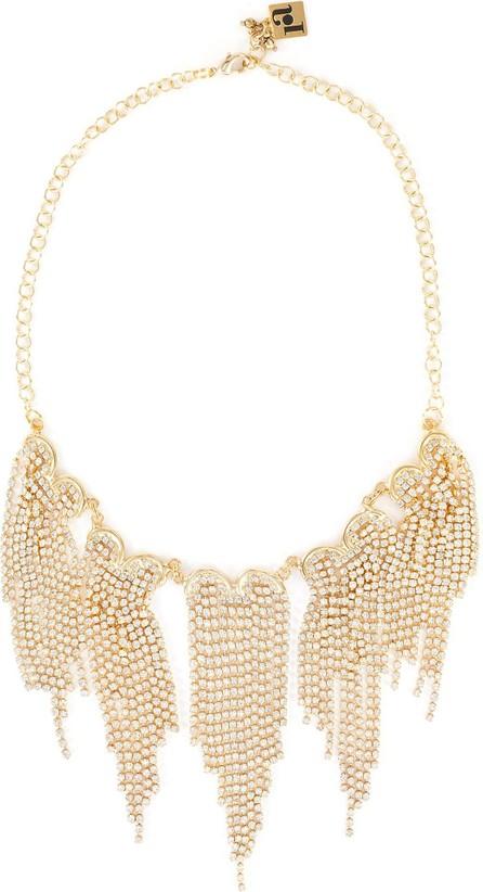 Rosantica Graffiti' crystal embellished fringed necklace