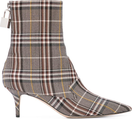 Monse Plaid sock boots
