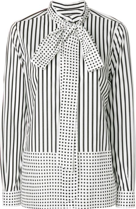 Burberry London England Striped and polka dot blouse