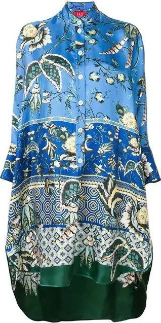 For Restless Sleepers tropical print drape tunic