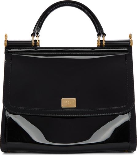 Dolce & Gabbana Black Small Rubber Miss Sicily Bag