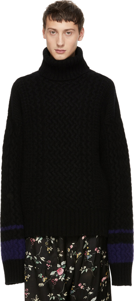 Haider Ackermann Black Borago Turtleneck