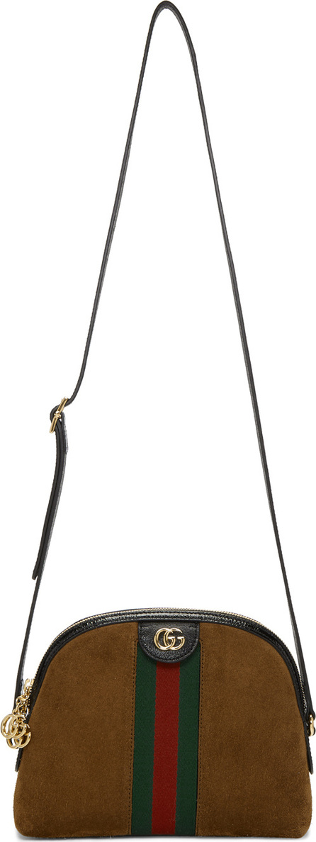 Gucci Brown Small Suede Ophidia Bag