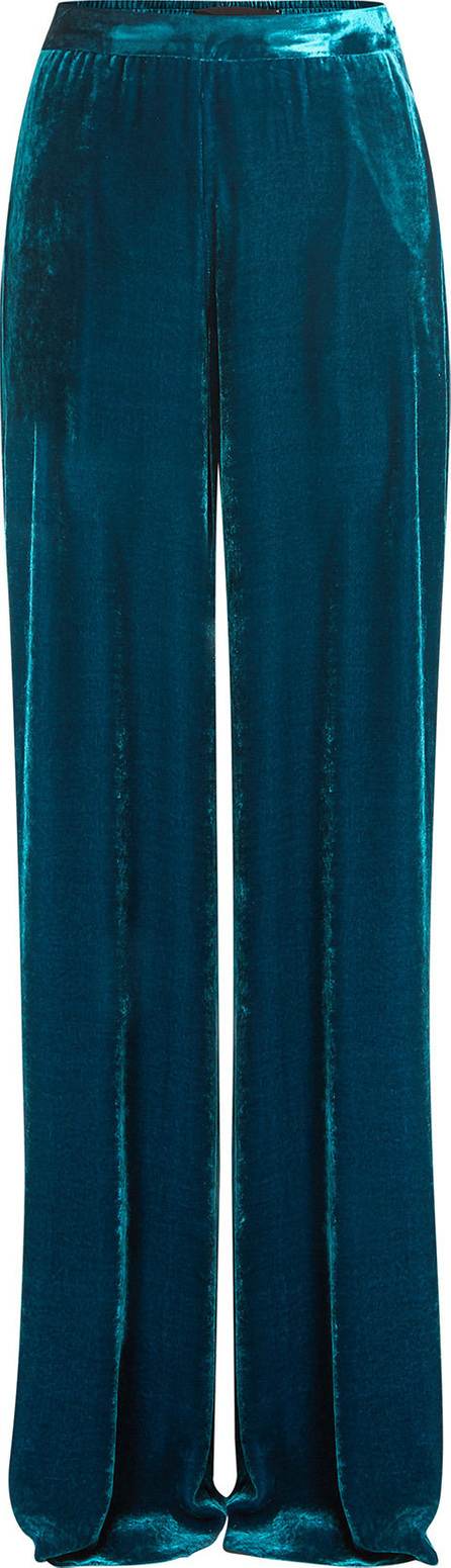 Etro Velvet Pants with Silk