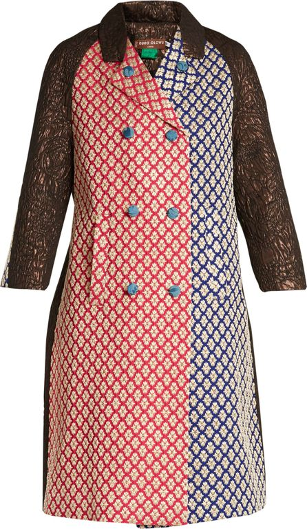 Duro Olowu Patchwork-brocade double-breasted coat