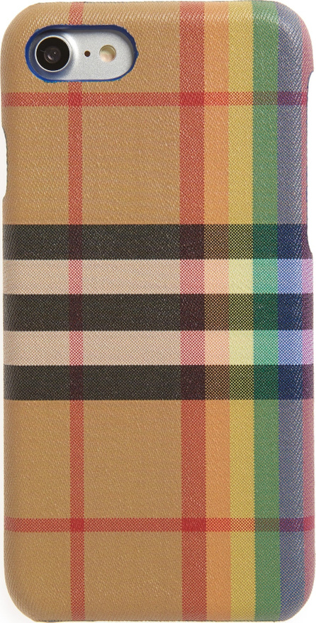 Burberry London England Vintage Check Rainbow iPhone 8 Case