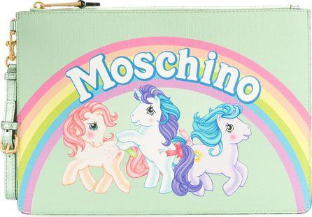 Moschino My Little Pony rainbow clutch