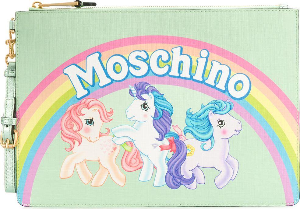 Moschino - My Little Pony rainbow clutch