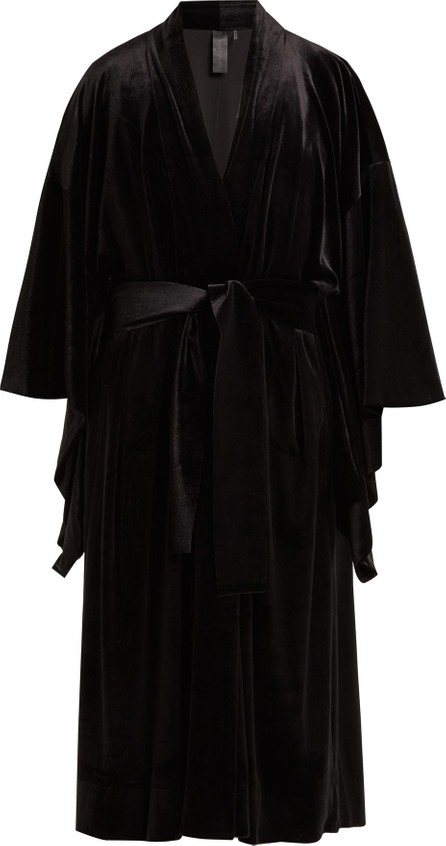 Norma Kamali Exaggerated-sleeve velvet robe