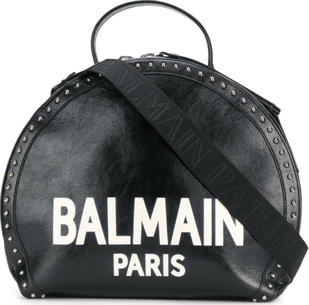Balmain Paris logo studded tote bag