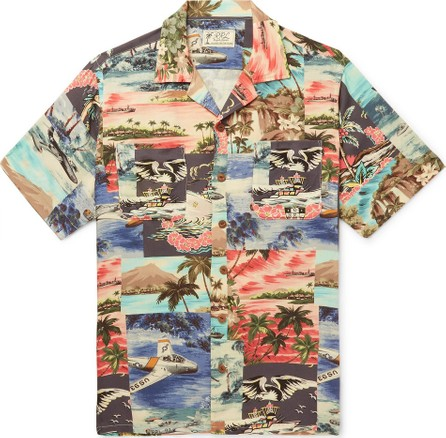 Rrl Slim-Fit Camp-Collar Printed Woven Shirt