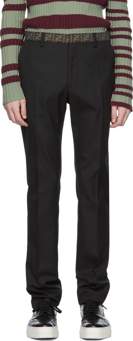 Fendi Black 'Forever Fendi' Pleated Trousers