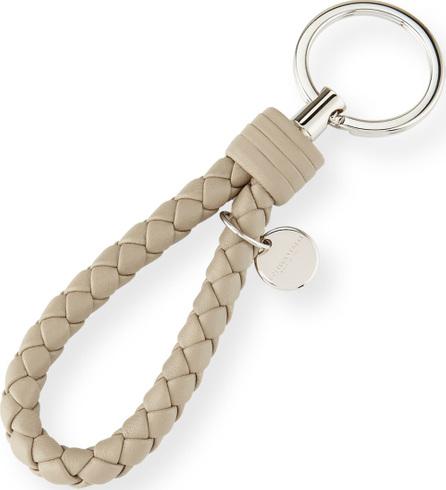 Bottega Veneta Braided Loop Key Ring, Light Gray