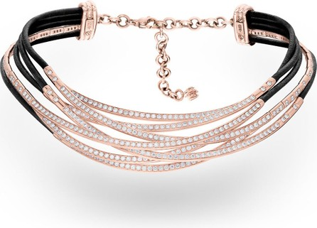 de GRISOGONO Allegra 18k Rose Gold & Leather Diamond Overlap Necklace