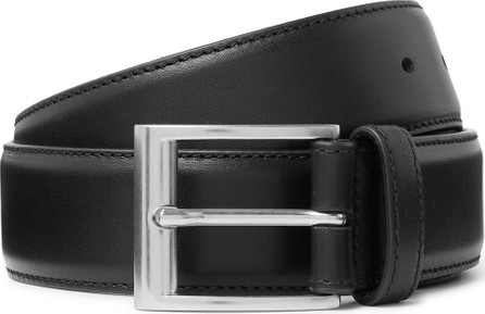 Bottega Veneta 3.5cm Black Leather Belt