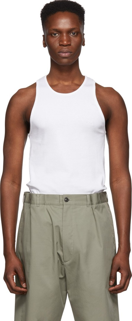 Helmut Lang White Stacked Tank Top
