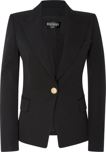 Balmain Tailored One Button Wool Blazer