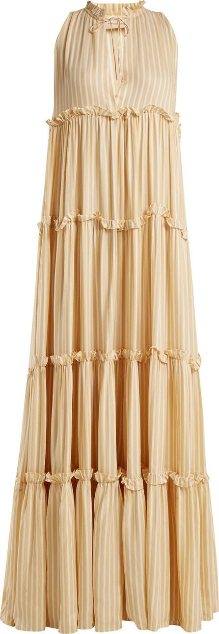 Adriana Degreas Sleeveless striped maxi-dress