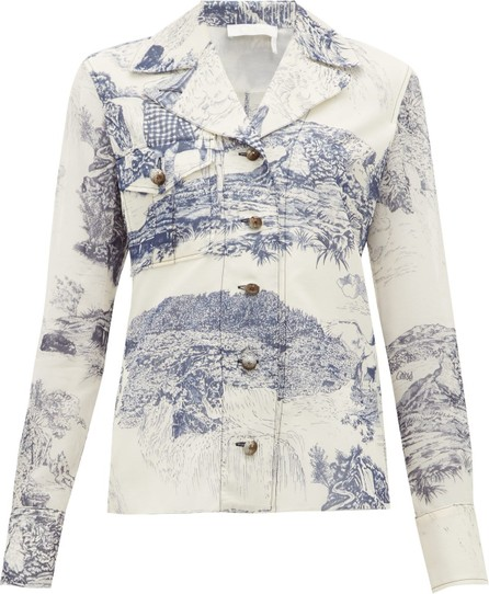 Chloe Toile de Jouy-print silk blouse