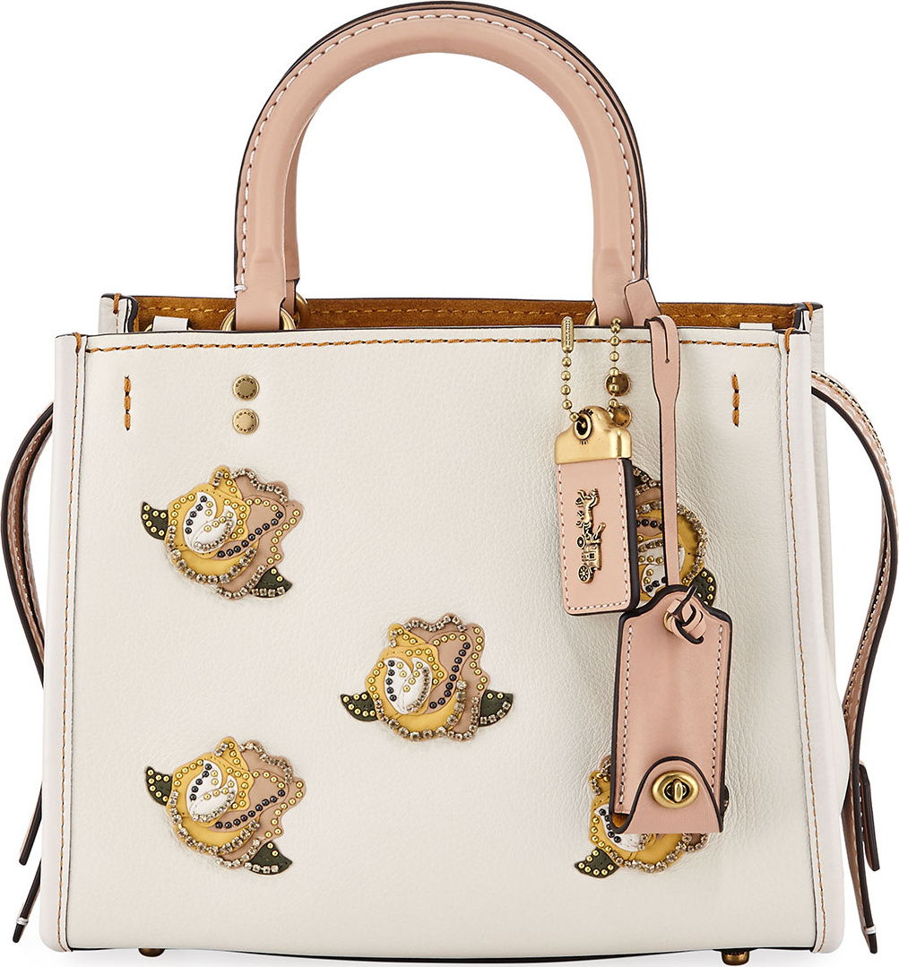 2b86357955 ... discount coach 1941 rogue 25 rose tote bag 1242b ce853