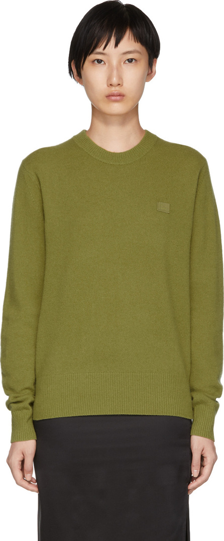 Acne Studios Green Knit Face Sweater