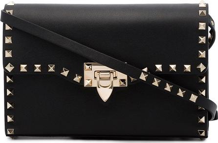 Valentino Black Rockstud Small Leather Shoulder Bag
