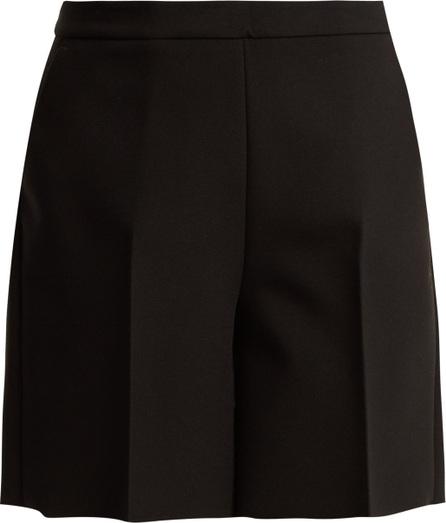 MSGM High-rise crepe shorts