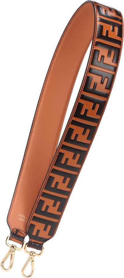 Fendi Strap You leather logo bag strap