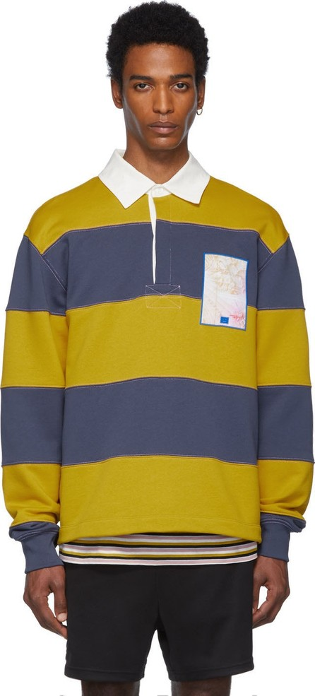 Acne Studios Blue Foster Map Face Polo