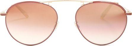 GARRETT LEIGHT Innes 55 aviator metal sunglasses