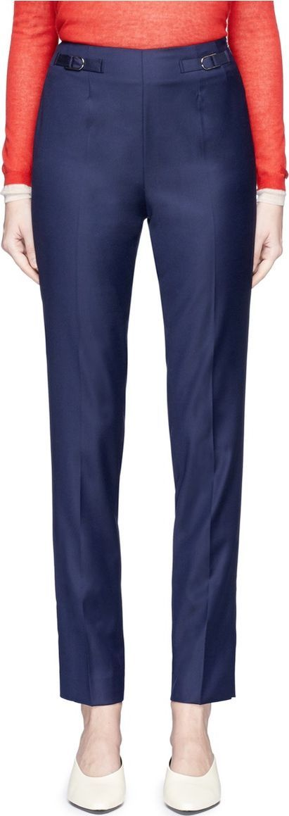 Gabriela Hearst High waist twill skinny pants