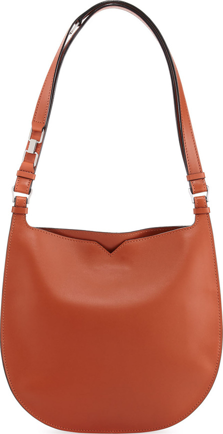 Valextra Weekend Leather Hobo Bag