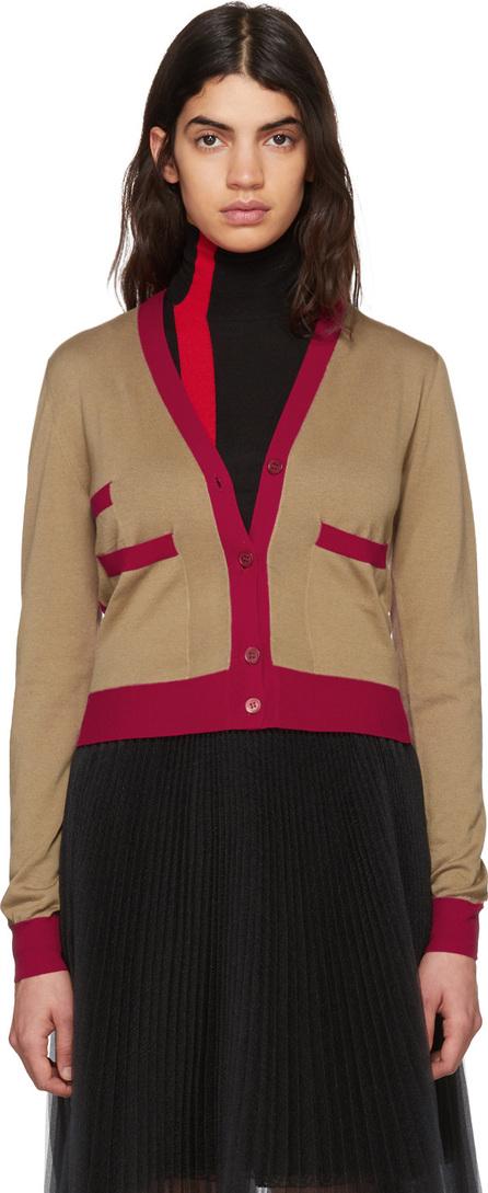 Marni Tan & Red Cotton Cardigan