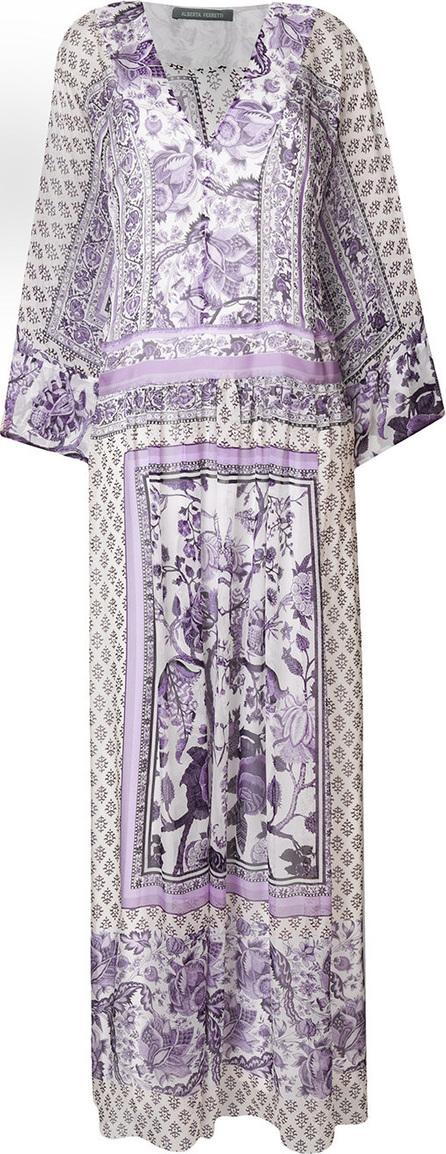 Alberta Ferretti Long scarf-print dress