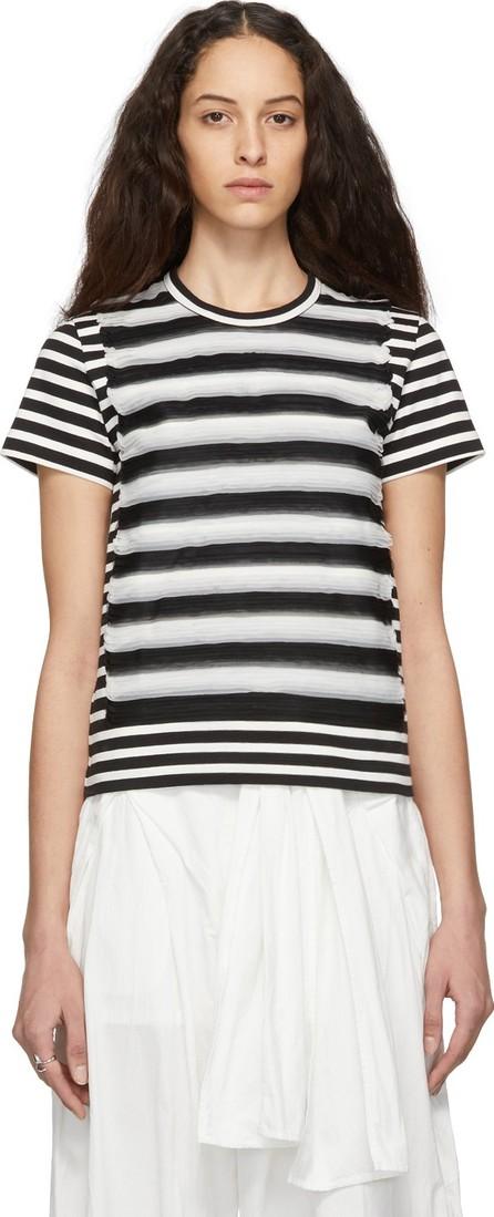 Noir Kei Ninomiya Black & White Striped Jersey T-Shirt