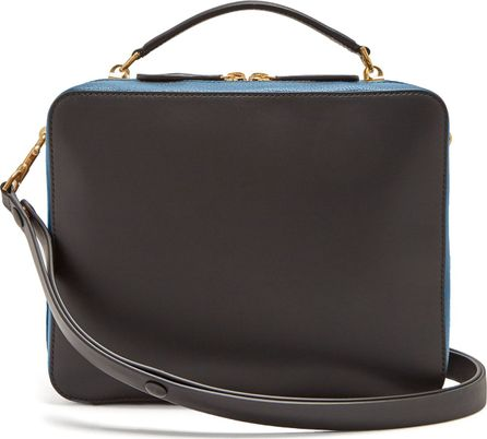 Anya Hindmarch Stack double leather satchel bag