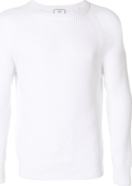 AMI ribbed crew neck sweater