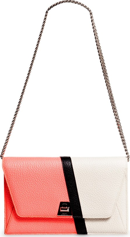 Akris Anouk Colorblock Leather Wallet on a Chain