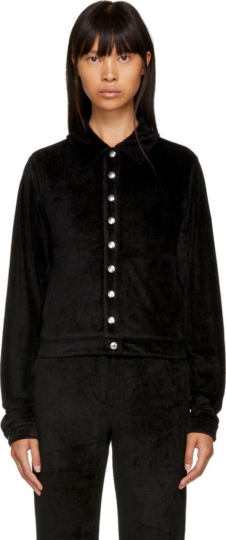 Alexachung Black Velvet Popper Tracksuit Jacket