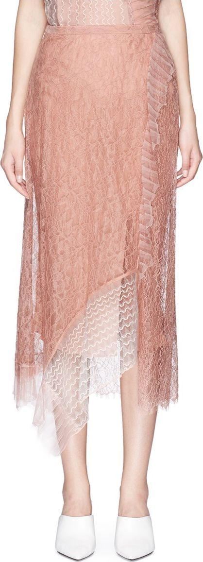 3.1 Phillip Lim Chantilly lace skirt