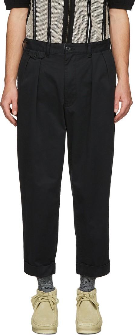 Beams Plus Black Pleated Trousers