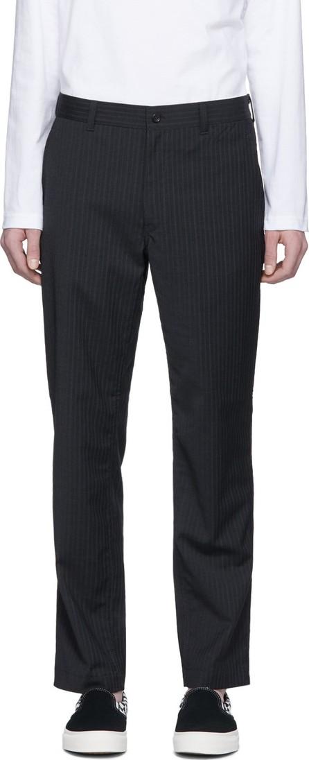 Comme des Garçons Homme Grey & White Stripe Trousers
