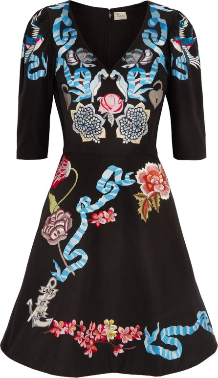 1974bc9c8b17 Temperley London Sailor embroidered cotton and silk-blend faille mini dress