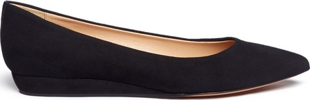 Fabio Rusconi Suede wedge pumps
