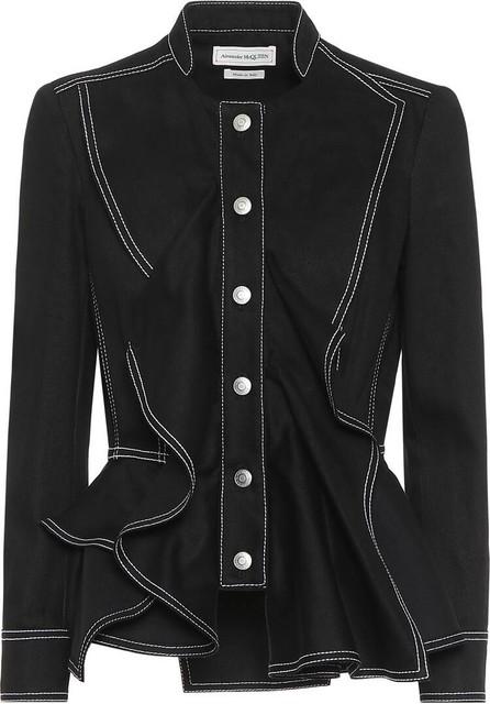 Alexander McQueen Cotton peplum jacket