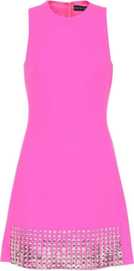 David Koma Wool crêpe sleeveless dress