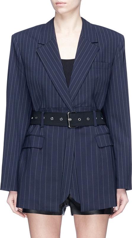 3.1 Phillip Lim Belted pinstripe oversized virgin wool blazer