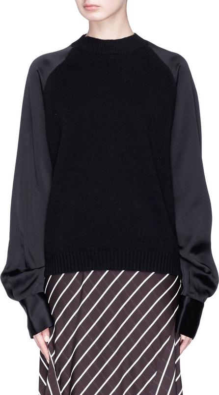 Haider Ackermann Satin sleeve wool-cashmere sweater