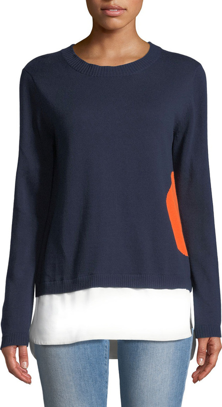 Lisa Todd Dot Sweater with Shirting Hem